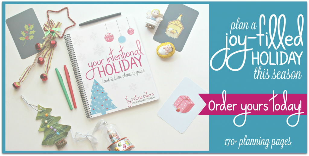 You can have a thoughtful, peaceful, joy-filled and intentional holiday season keeping your focus on what truly matters. This year's Your Intentional Holiday planner is spiral bound and has over 170+ planning and reflective pages to plan all of your holidays and special events from September through the New Year.