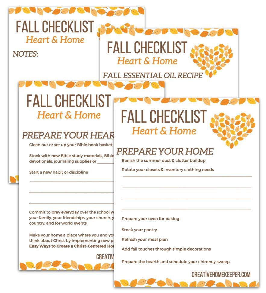 Fall Heart & Home Checklist