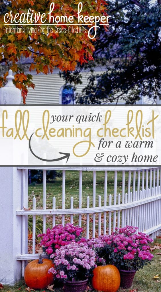 Are you ready for your home to feel warm & cozy? Get it ready with this quick fall cleaning checklist, 6 tasks you can do today to fully enjoy the changing season at home!