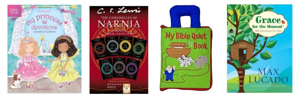 Looking for the perfect gifts to grow their faith? Check out this MASSIVE list of Bibles, books, music, toys, games and more... all for kids birth through age 12 to help grow and nurture their faith. Perfect presents for Christmas, birthdays, Easter baskets, graduations or special days!