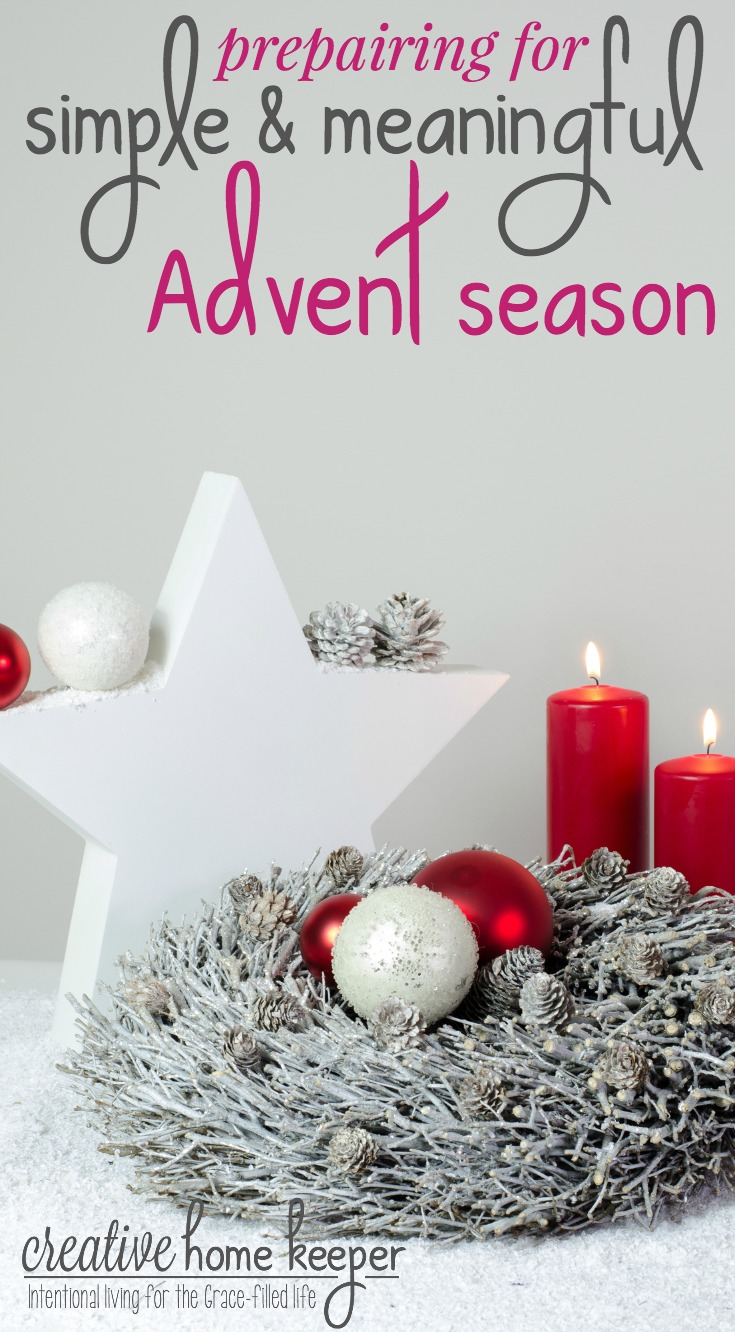 The days counting down to Christmas, known as Advent, are filled with excitement and anticipation. To be the most intentional with our Advent and holiday season, we are making a plan for a simple and meaningful with a few carefully selected Advent activities.
