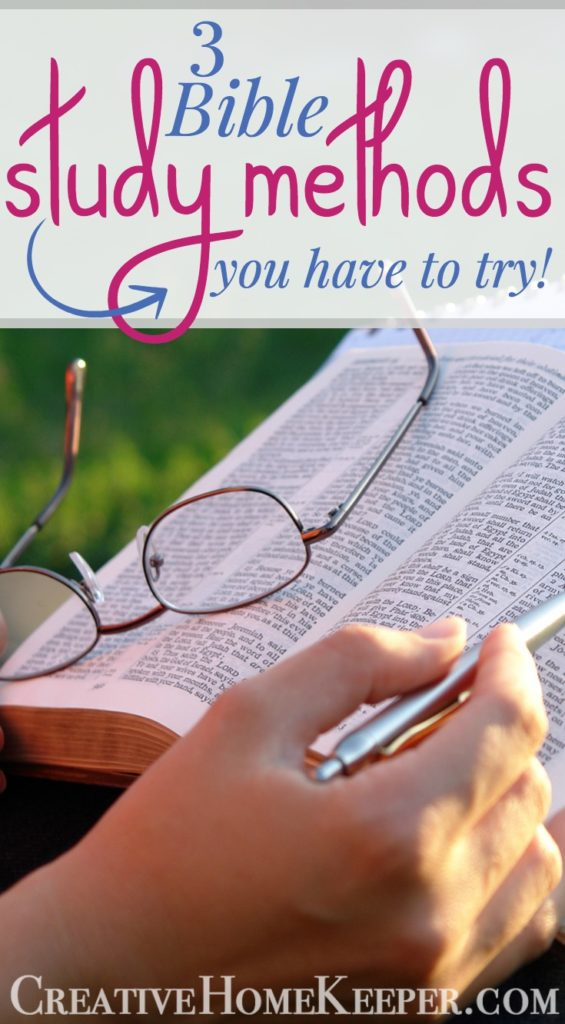 Studying the Bible doesn't need to complicated or overwhelming! These 3 simple and easy Bible Study Methods are a must to try today to grow your faith and to better understand God's Word.