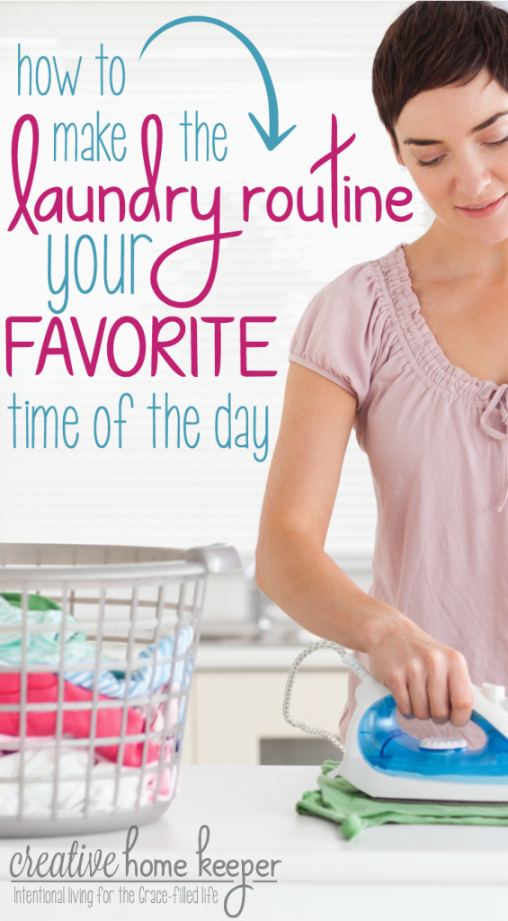 Yes, you can make your laundry routine one of your favorite times of the day with these practical suggestions. Invest in yourself and grow your faith... all while doing the laundry!