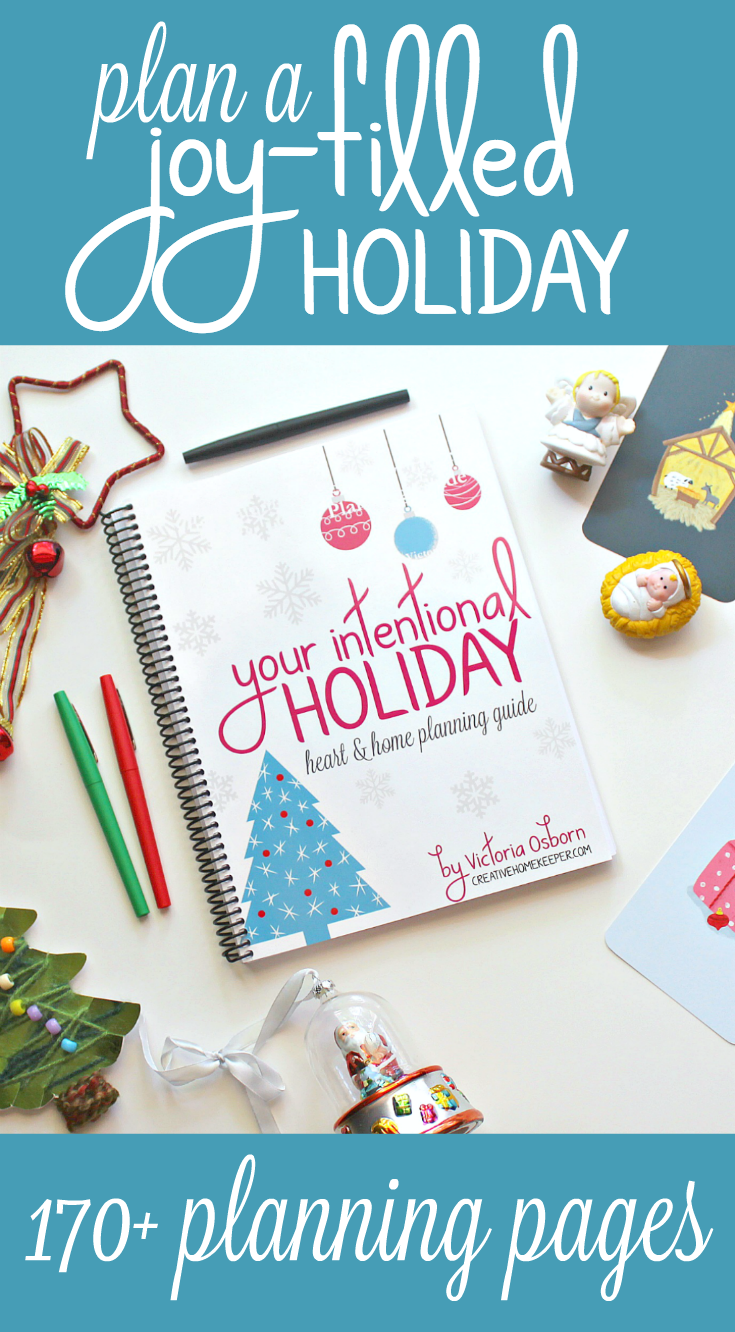 You can have a thoughtful, peaceful, joy-filled and intentional holiday season keeping your focus on what truly matters. Download this 38+ page printable workbook and planner designed to help you navigate through the holiday season. This planning guide will help you experience more peace and joy this holiday season!