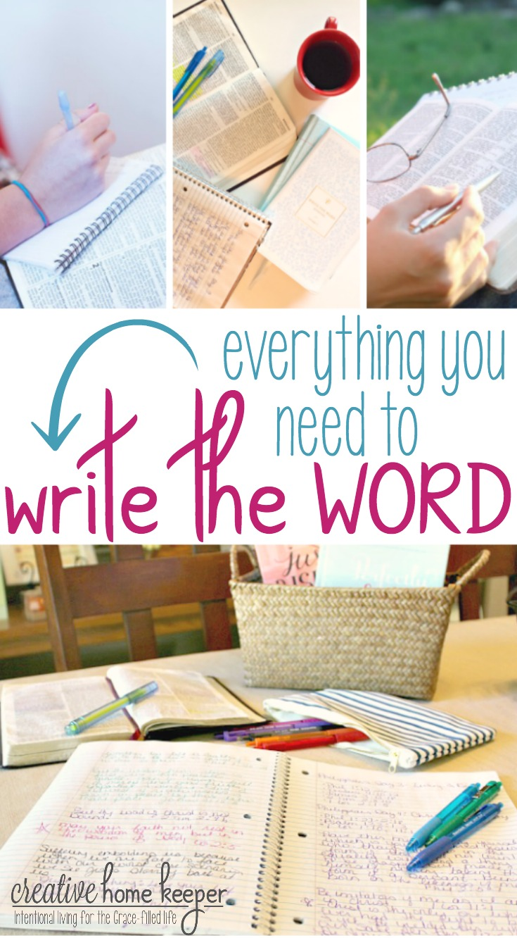Everything you need to Write the Word: Scripture Writing is a simple discipline that has dramatically transformed my faith and had made God's Word alive and active in my life like never before. The more I write the Word, the more God's truths are being firmly ingrained in my heart.