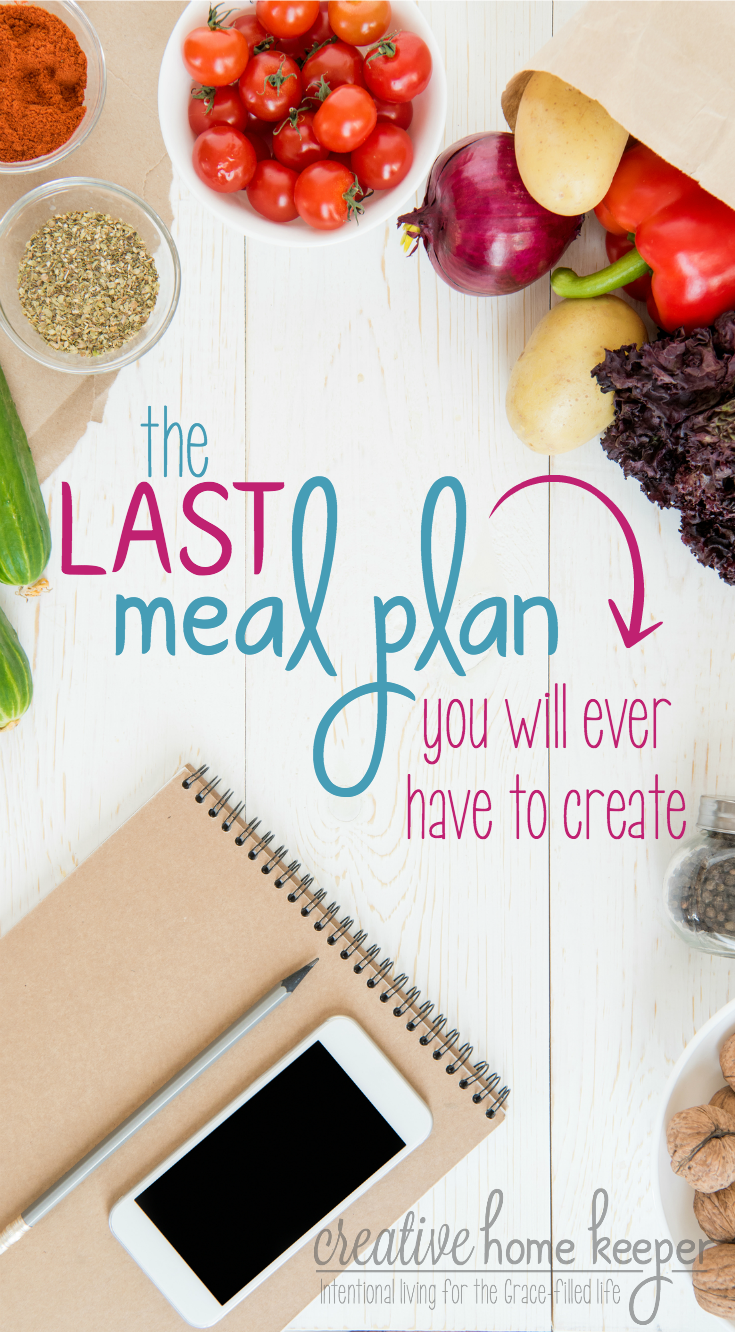 Save time, money & your sanity with this super simple, yet BRILLIANT meal plan hack! A must for busy moms. Set it up once for effortless meal planning all year long!
