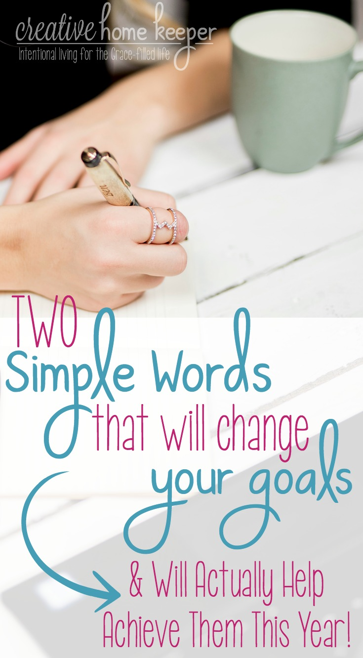 Believing you will actually achieve your goals is the most overlooked part of goal setting. Changing your mindset about how you approach goal setting is as easy as adding two simple words. #goalsetting #goals