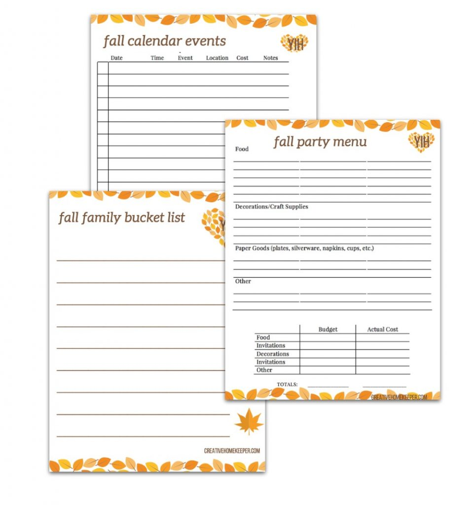 Your Intentional Holiday Planning Toolkit Fall