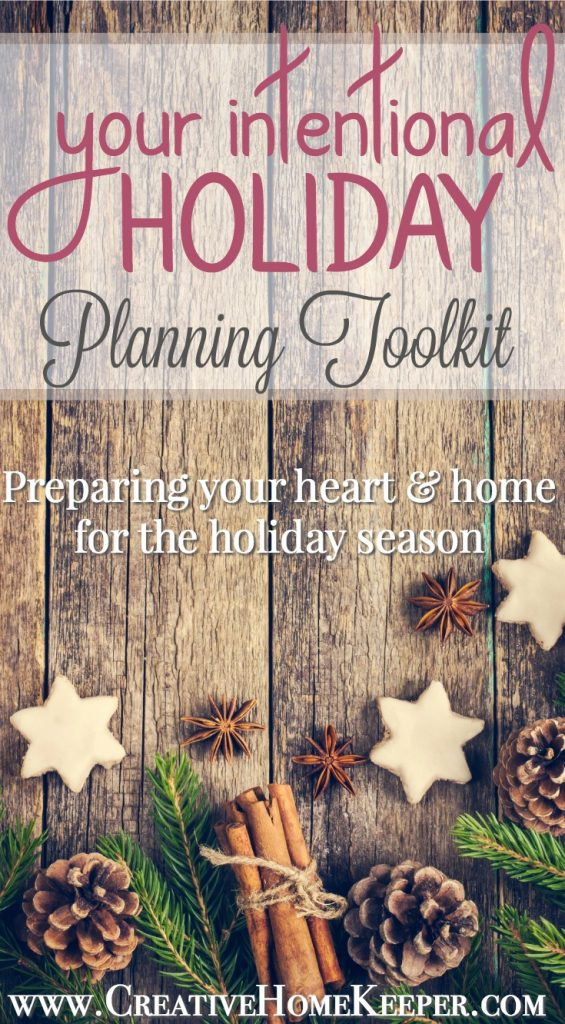 Your Intentional Holiday Planning Toolkit
