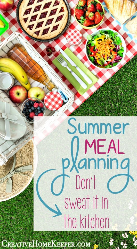 Summer meal planning