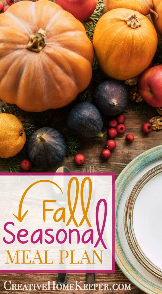 Fall Seasonal Meal Plan