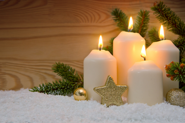 White Simple Advent Candles