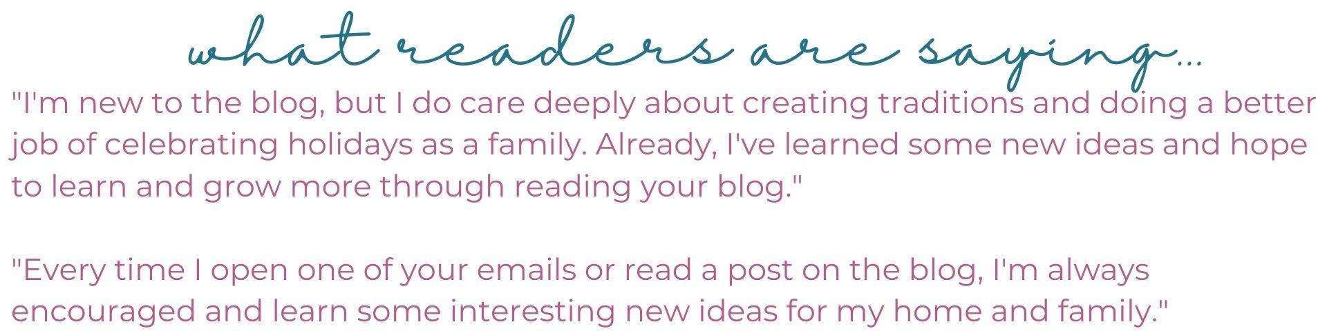 Reader Testimonial !
