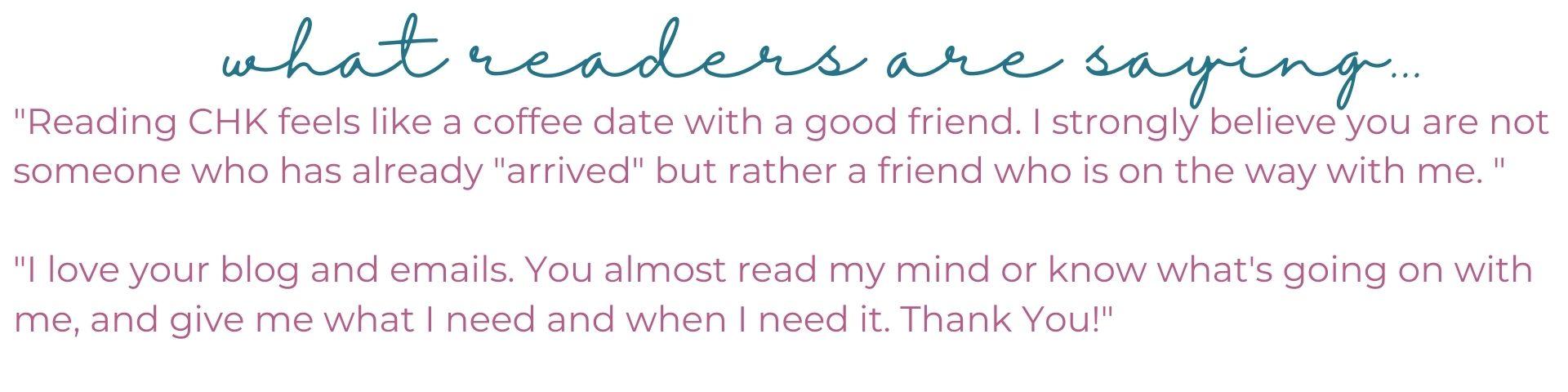 Reader Testimonial 3